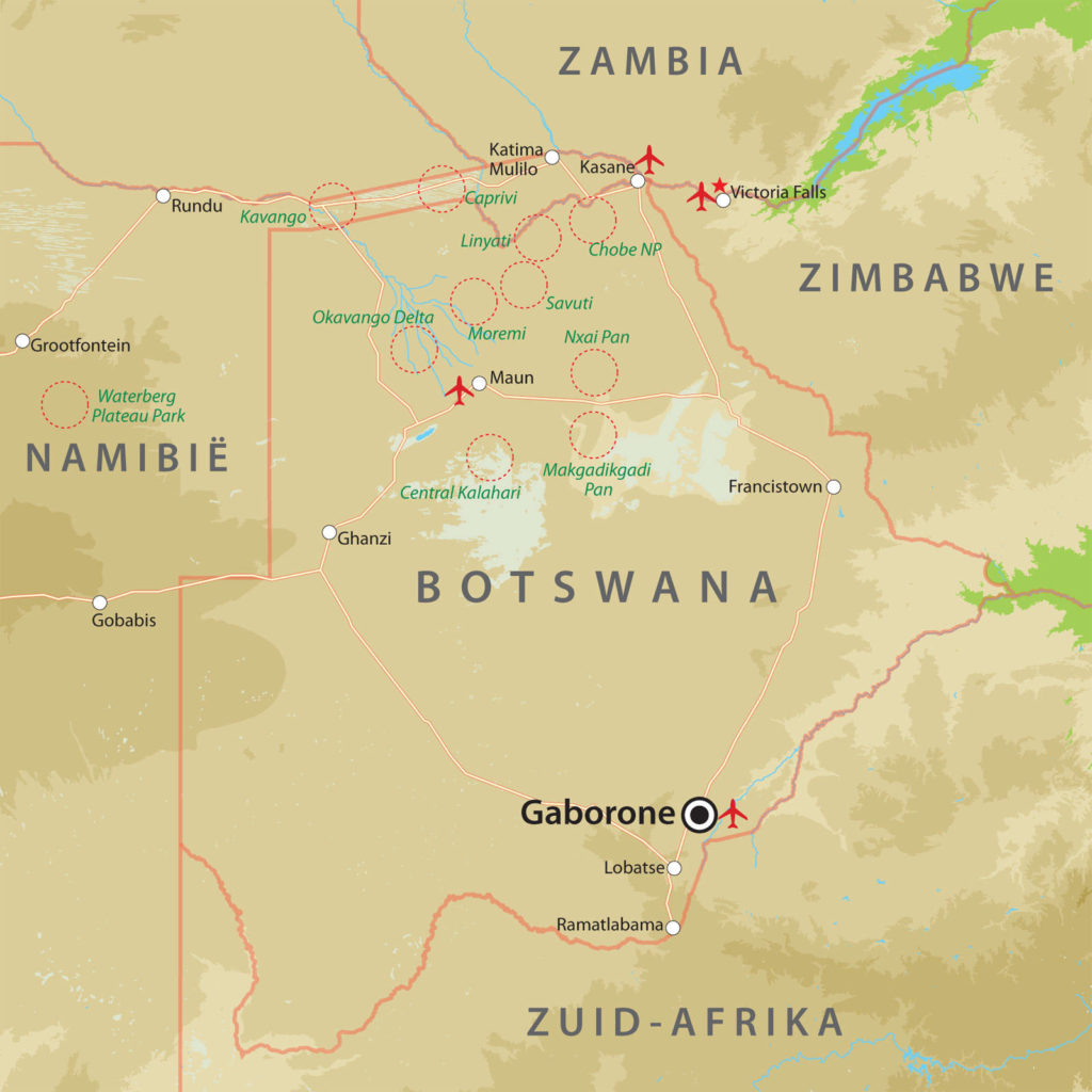 botswana-basiskaart