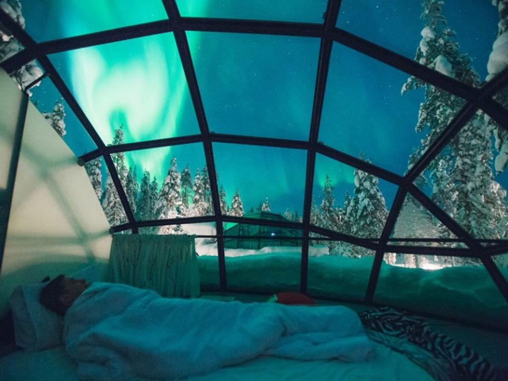 reistips finland-lapland-kakslauttanen-arctic-resort-slaapkamer
