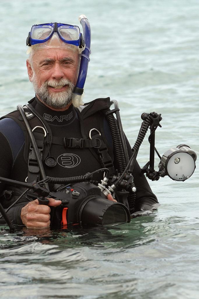 Dos winkel-onderwaterfotograaf