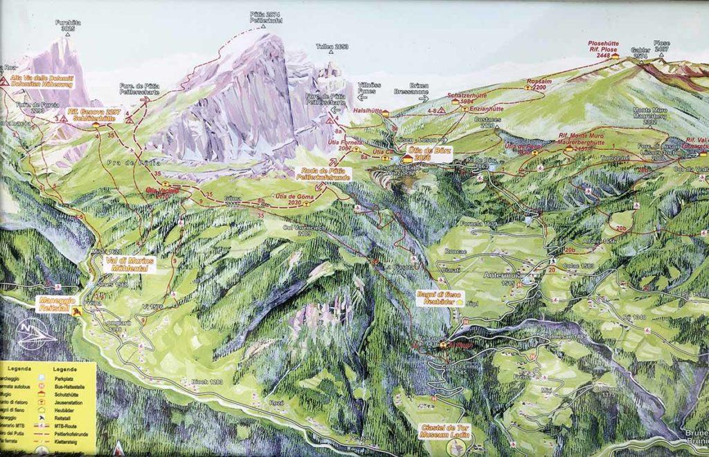 Dolorama-trail-dolomieten-Kaart-wandelgebied